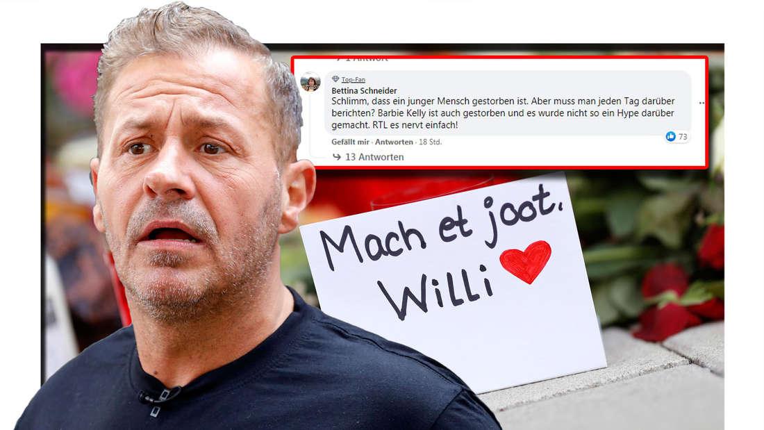 """""""RTL es nervt einfach"""" - Zuschauer sauer, weil Sender Beerdigung von Willi Herren ausschlachtet."""