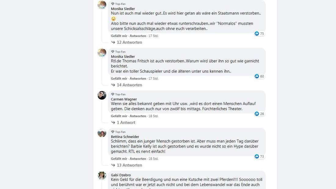 Viele Menschen sind genervt, dass RTL den Tod von Willi Herren medial ausschlachtet.