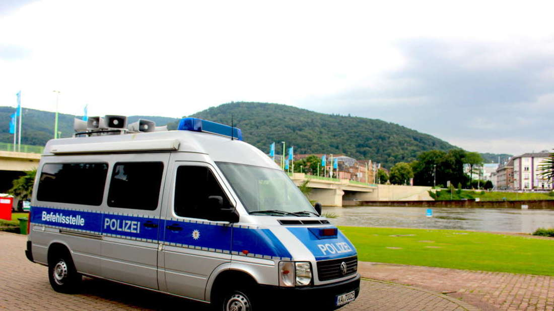 Polizeieinsatz auf der Neckarwiese (Symbolfoto)