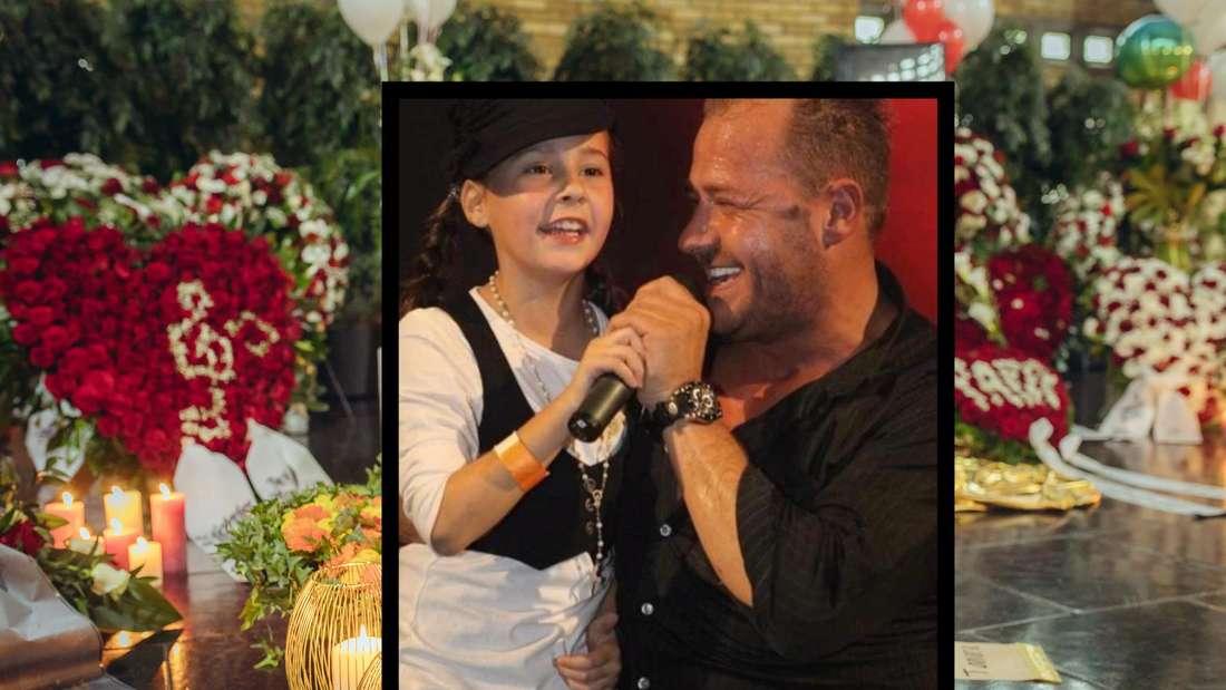Willi Herren mit Tochter Alessia auf der Bühne (Screenshot Instagram)