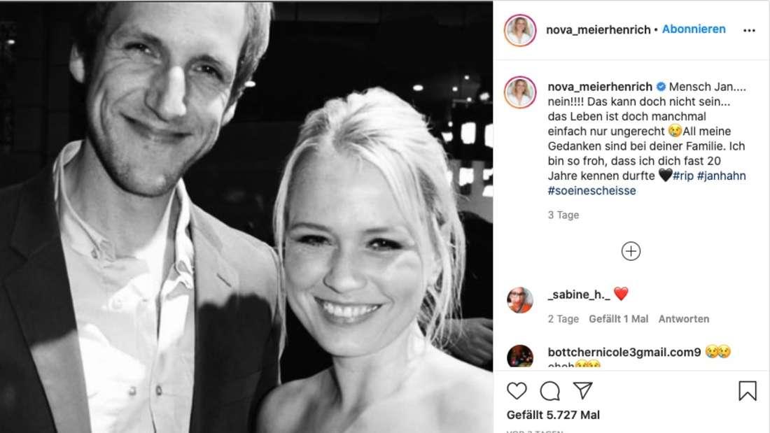 Moderatorin Nova Meierhenrich trauert um den toten Kollegen Jan Hahn.