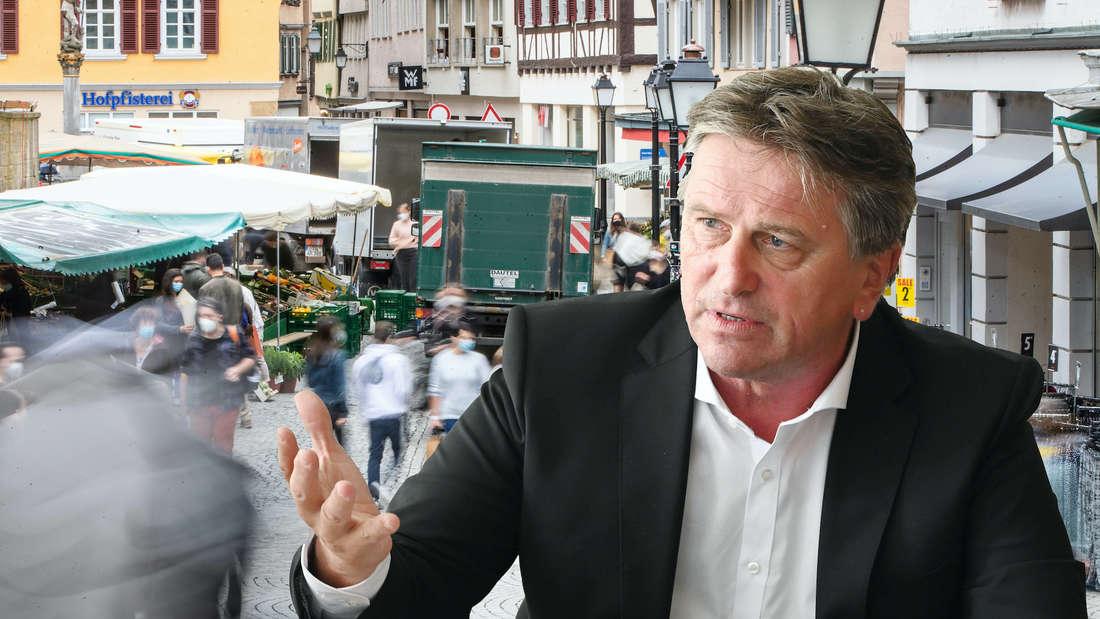 Minister Manne Lucha warnt vor Ungeduld. (Fotomontage)