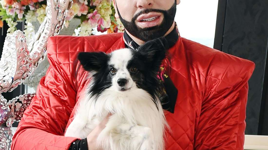 Harald Glööckler und sein geliebter Hund Billy King.
