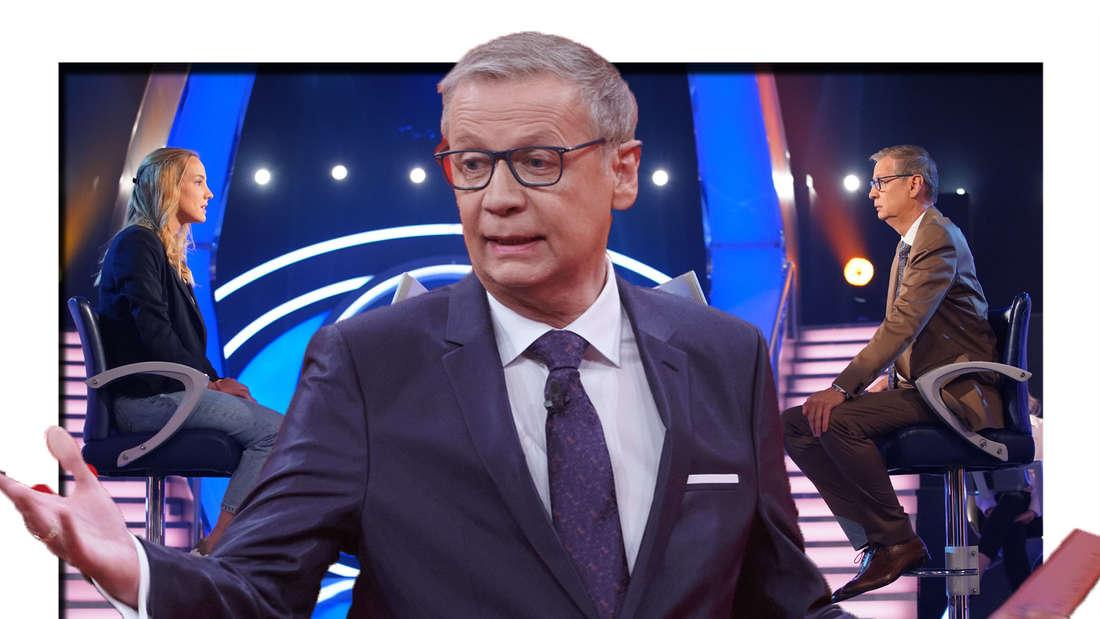 Günther Jauch bei Wer wird Millionär (Fotomontage)
