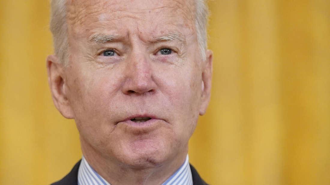 Gesicht von Joe Biden, Präsident der USA