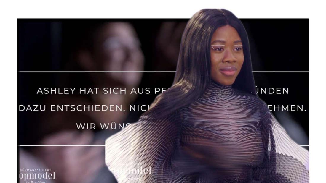 Fotomontage: Kandidatin Ashley im Halbfinale von GNTM
