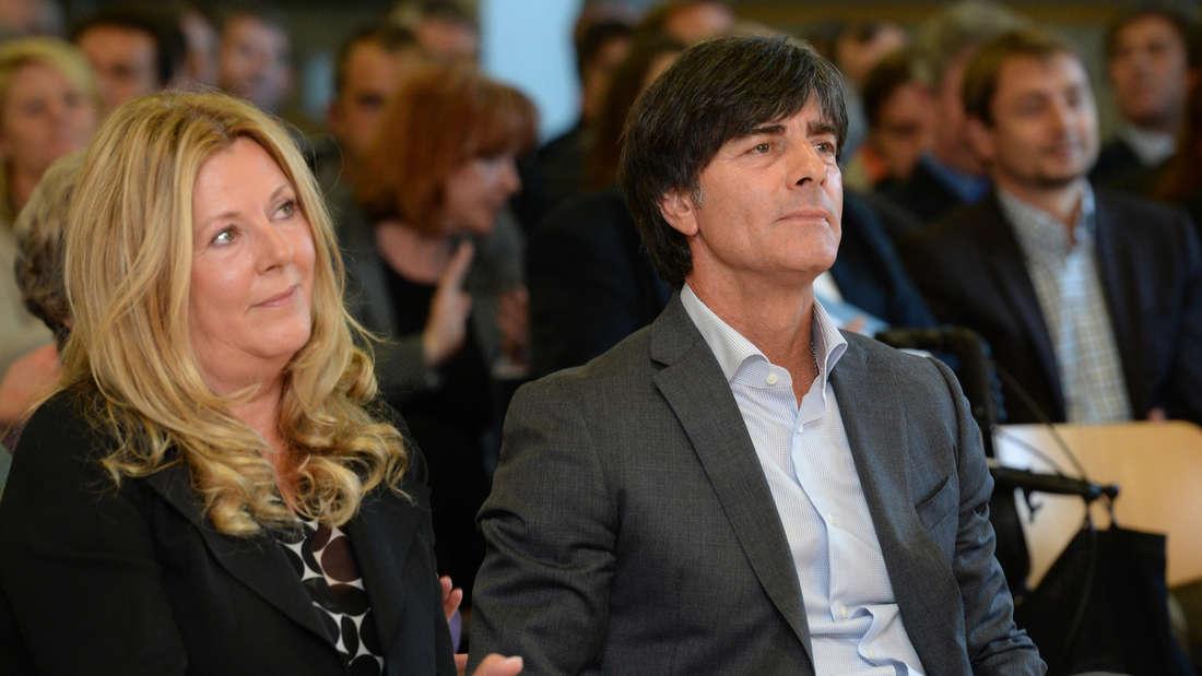 Joachim Löw (r.) 2014 mit seiner Ehefrau Daniela (li.)