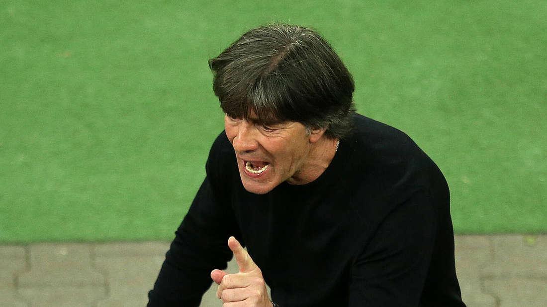 Bundestrainer Joachim Löw (Deutschland) in Rage