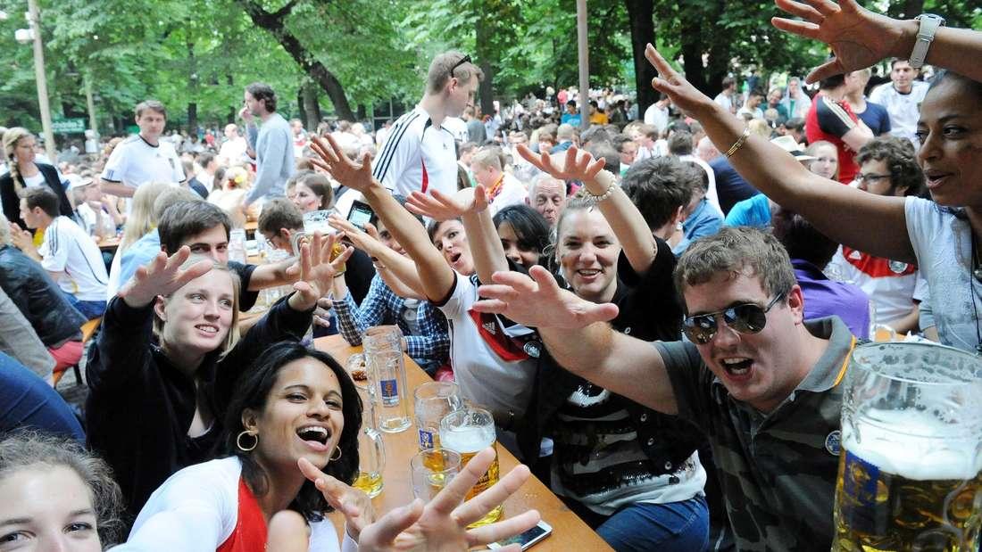Fußball-WM, Augustiner-Biergarten Keller