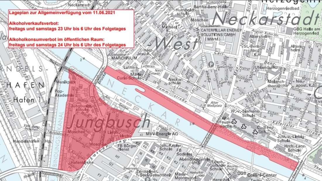 Mannheim: In diesem Gebiet gilt am Wochenende ein Alkoholverbot.