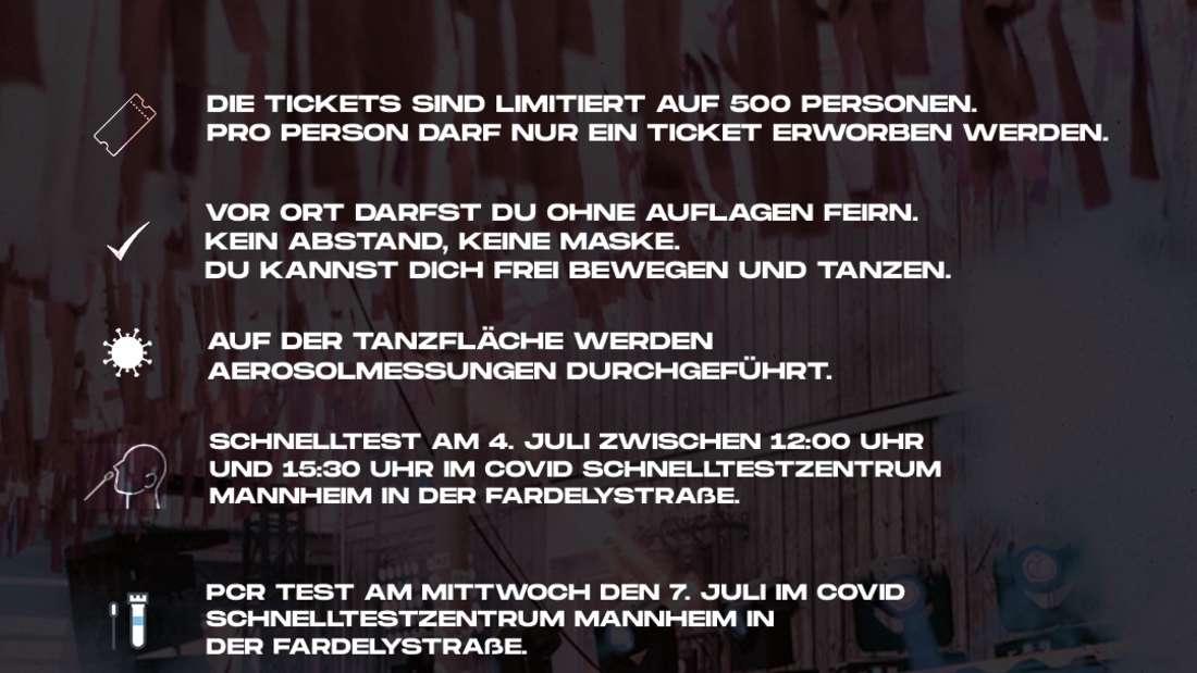 Das sind die Spielregeln für die Veranstaltung am Hafen49 in Mannheim am 4. Juli.