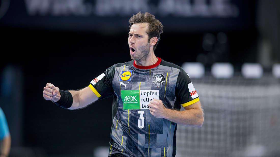 Das DHB-Team um Kapitän Uwe Gensheimer gewinnt gegen Ägypten.