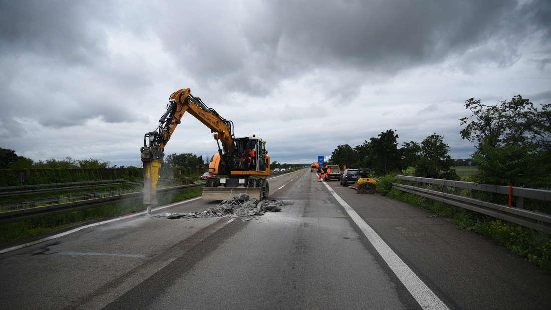 A6 bei Mannheim wegen Unterspülung voll gesperrt.