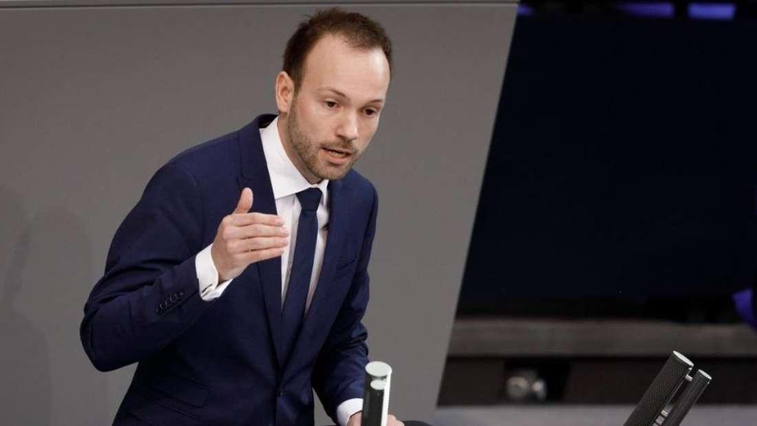 Der Mannheimer Bundestagsabgeordnete Nikolas Löbel (34, CDU) spricht im Deutschen Bundestag.