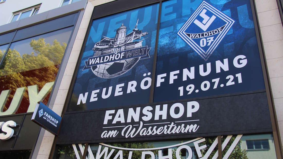 Der neue Fanshop des SV Waldhof Mannheim.
