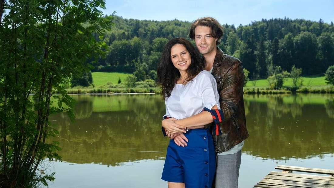 """Denise und Joshua und Christoph aus Staffel 15 von """"Sturm der Liebe"""""""