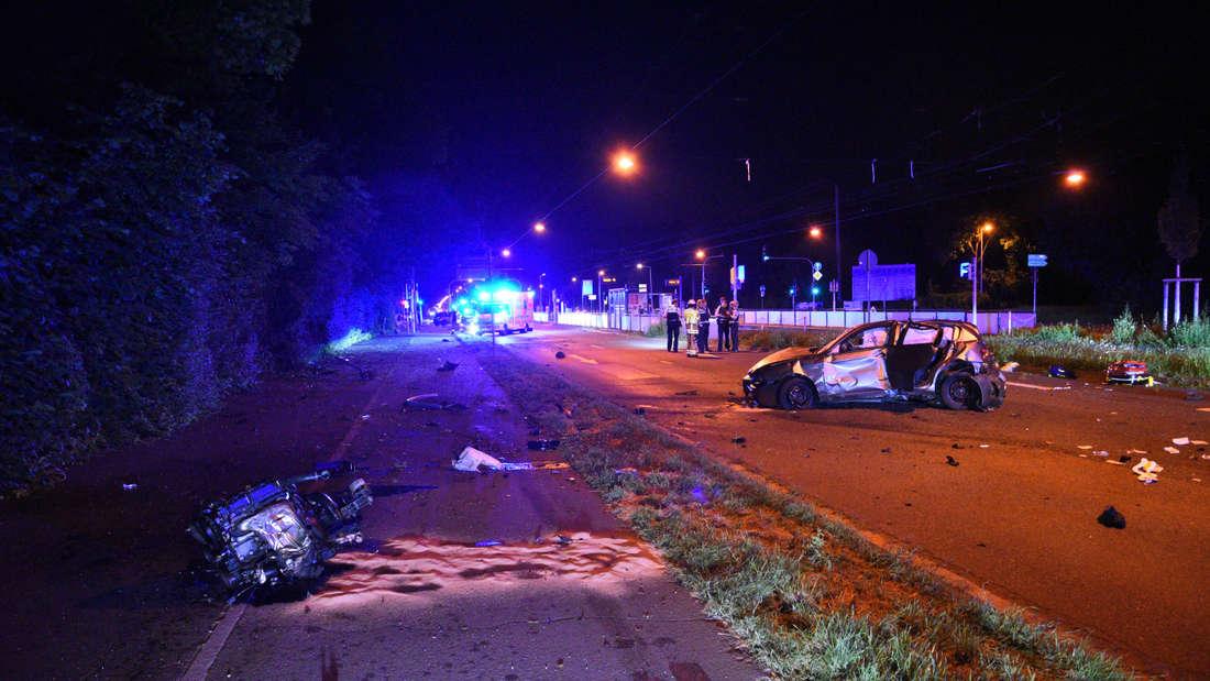 Raser-Unfall in Mannheim-Neckarstadt