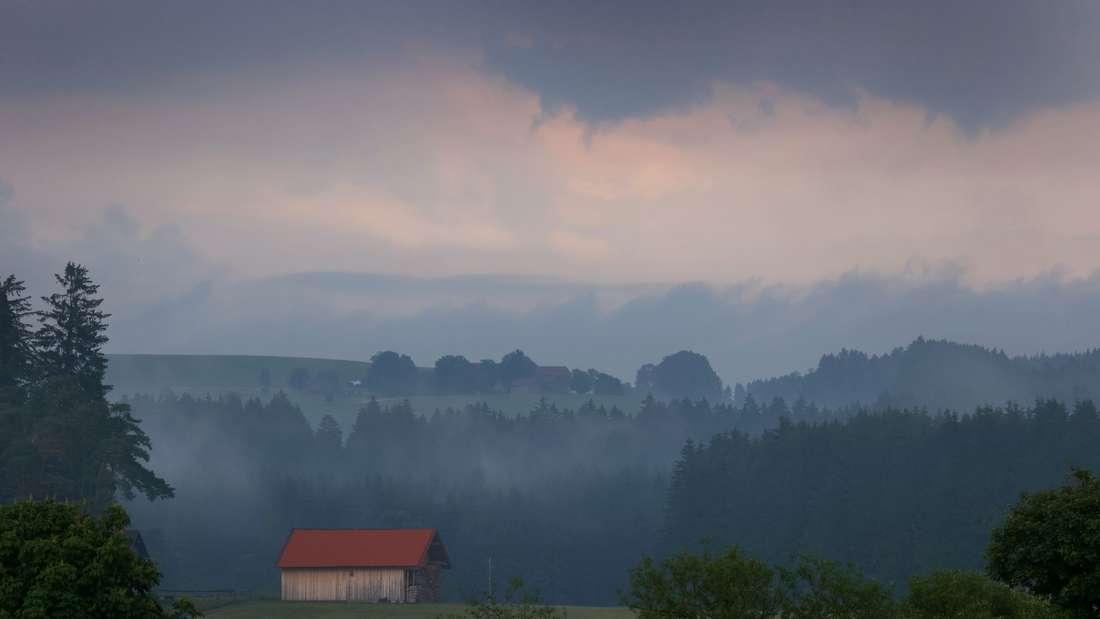Regen und Gewitter in Bayern