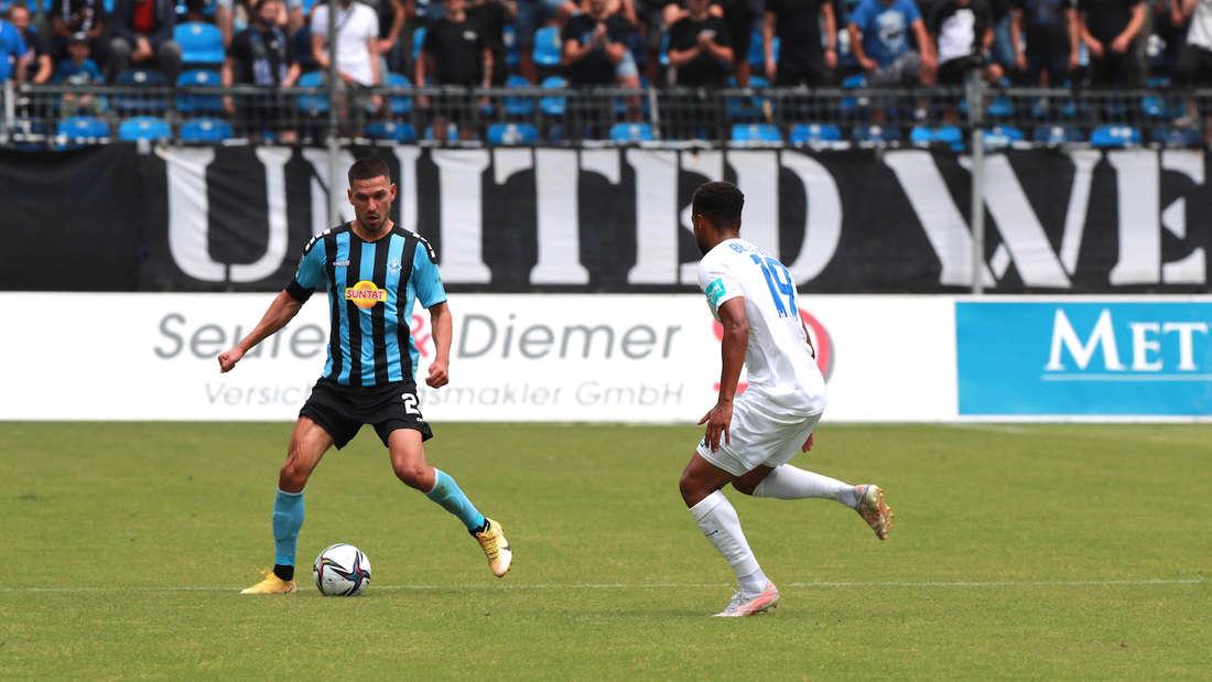 3. Liga - 1. Spieltag: SV Waldhof Mannheim - 1. FC Magdeburg 0:2 (0:2)