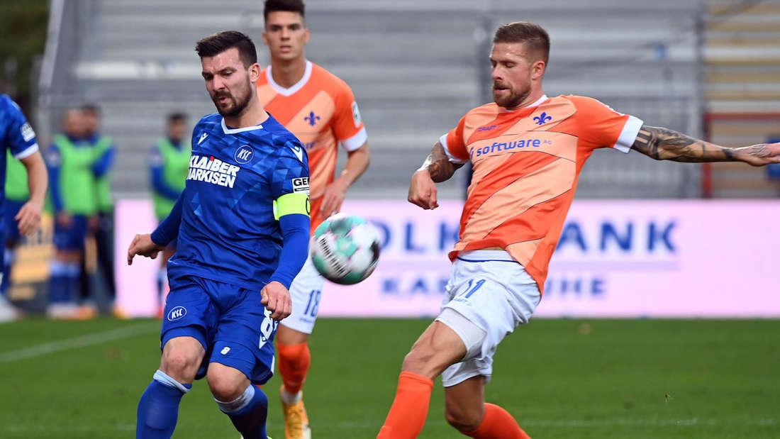 Der Karlsruher SC empfängt Darmstadt 98.