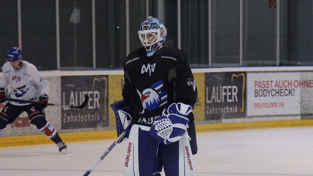 Adler Mannheim beim Training.