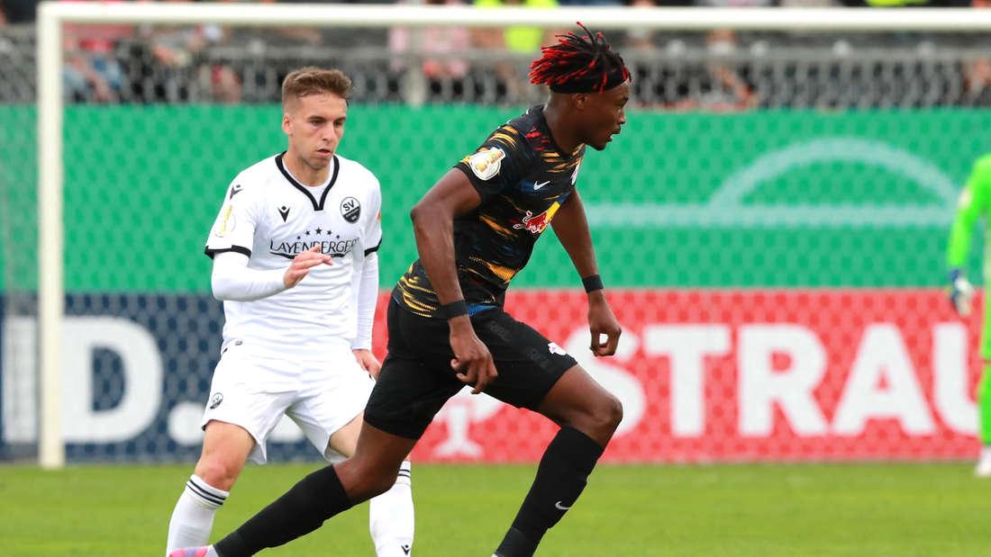 DFB-Pokal: SV Sandhausen gegen RB Leipzig.