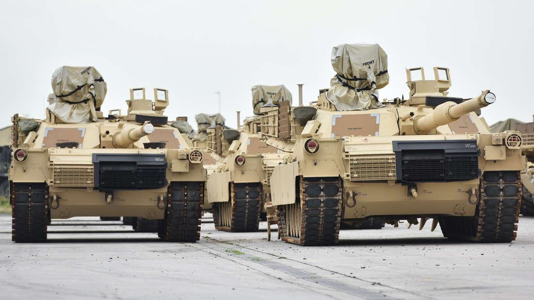 US Panzer in den Coleman Barracks