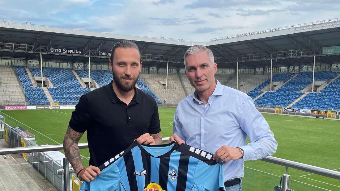 Marco Höger (l) wechselt zum SV Waldhof.