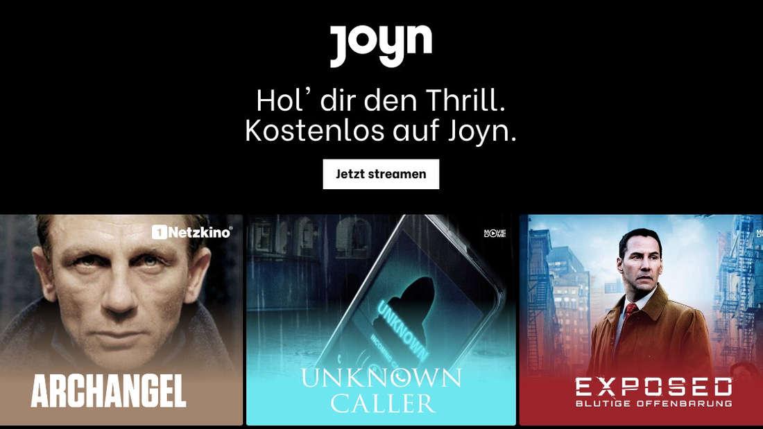 Screenshot der Seite von Joyn.