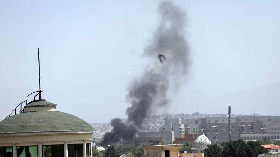 Rauch über Kabul