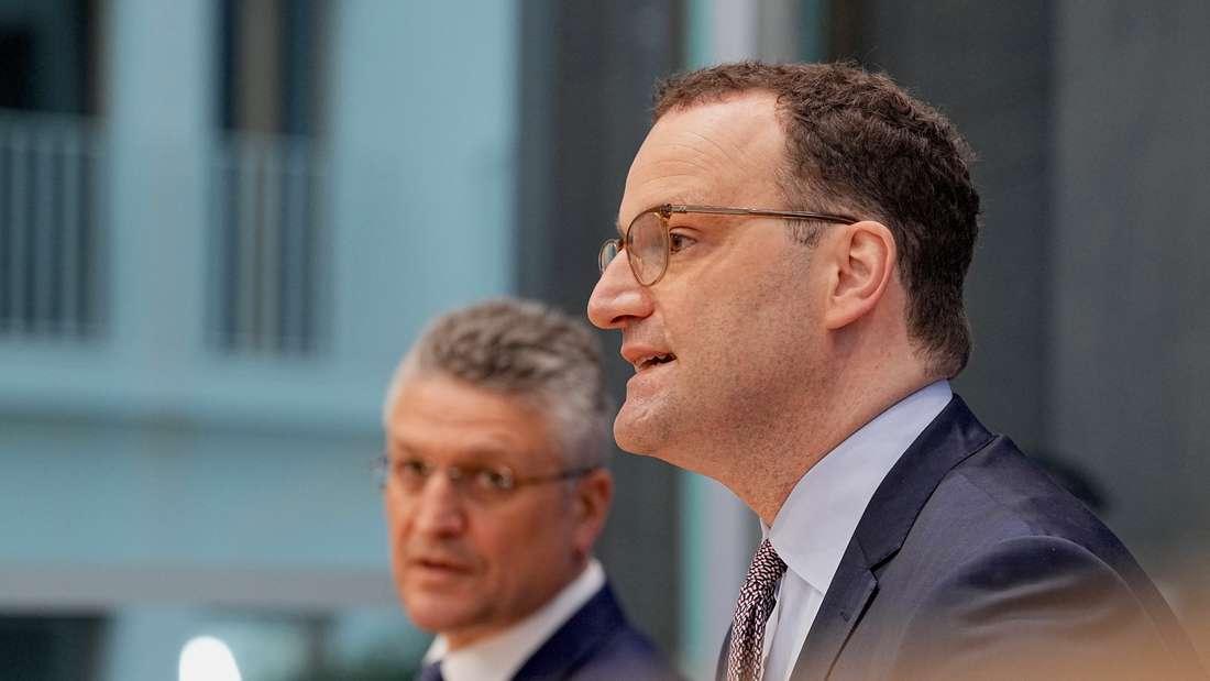 Gesundheitsminister Spahn und RKI-Chef Wieler während einer PK zur Corona-Lage