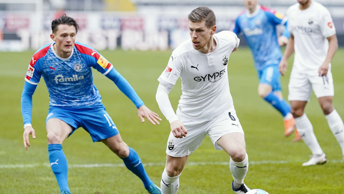 Denis Linsmayer (r) im Trikot des SV Sandhausen. Inzwischen spielt er in Ingolstadt.