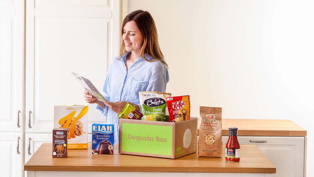 Mit der Degusta Box testen Sie einmal im Monat hochwertige Produkte.