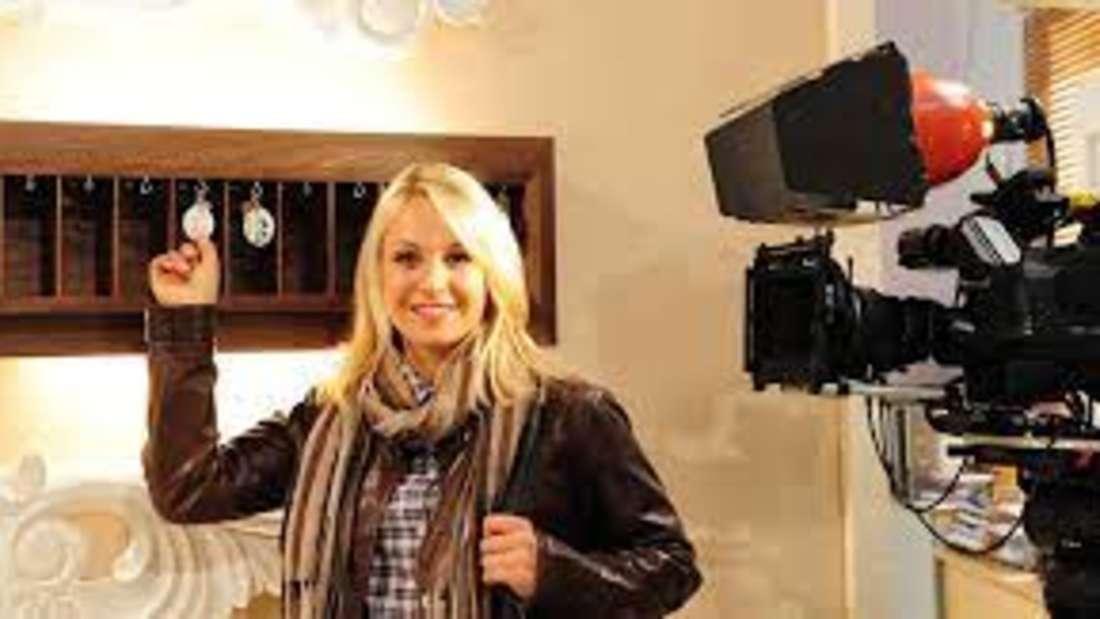 Magdalena Neuner bei den Dreharbeiten