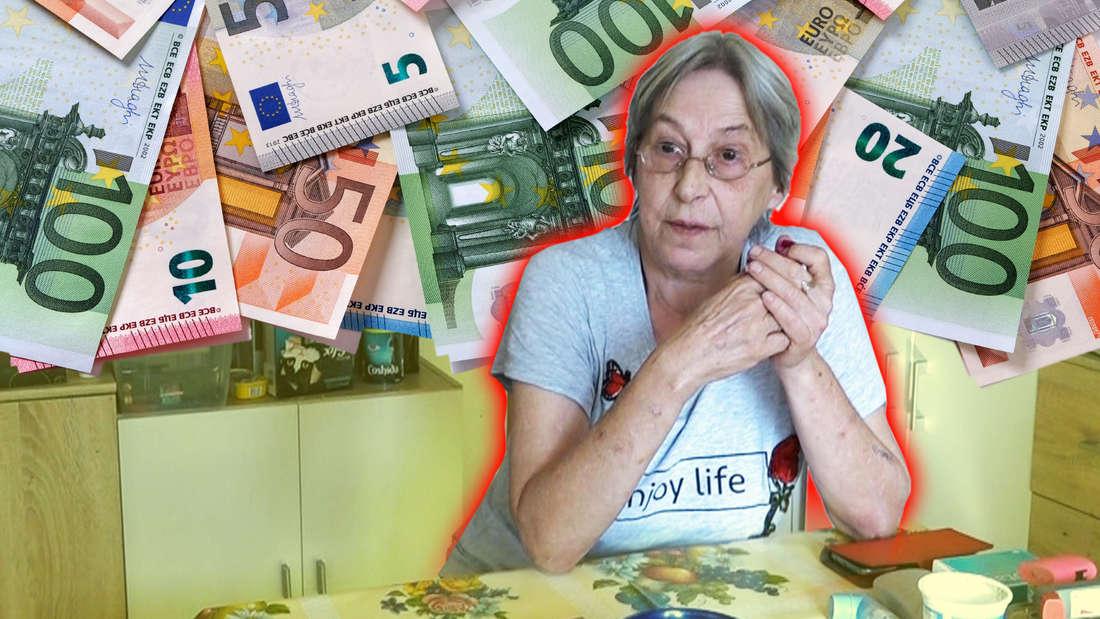 """Dagmar von """"Hartz und herzlich"""" erhält einen überraschenden Geldsegen (Fotomontage)"""