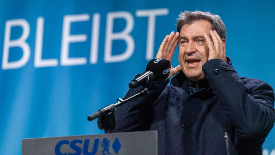 Markus Söder, Pressetermin mit der CSU