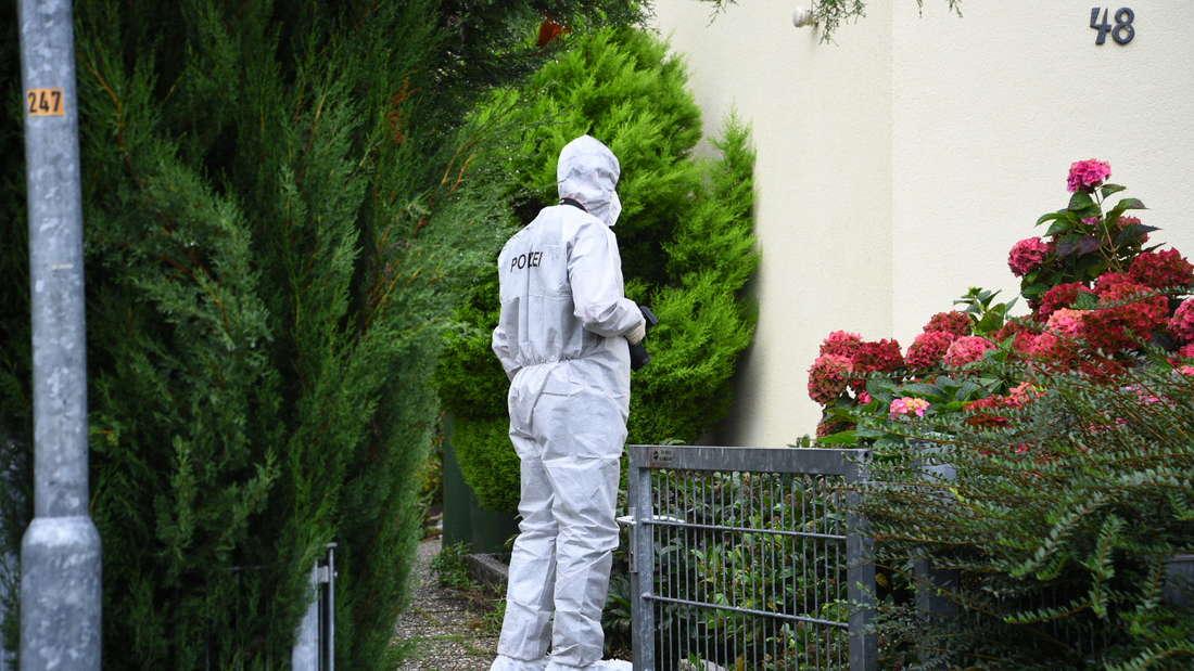 Spurensicherung am Tatort in Bammental.