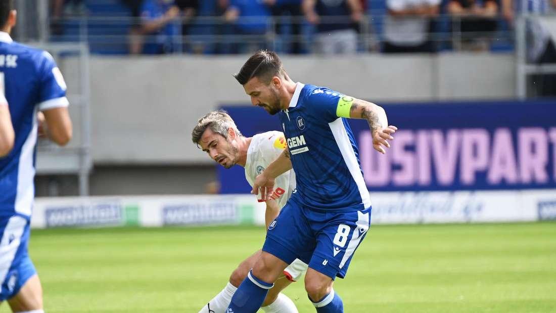 Der Karlsruher SC muss vorerst auf Kapitän Jerome Gondorf verzichten.