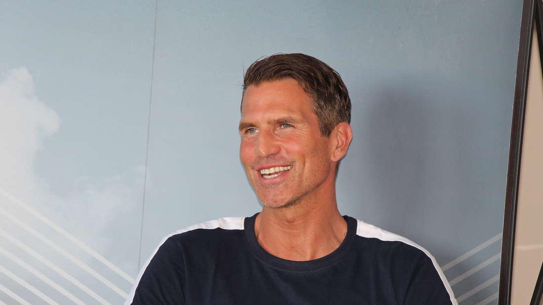 Der neue Waldhof-Trainer Patrick Glöckner bei seiner offiziellen Vorstellung am 27. Juli 2020.