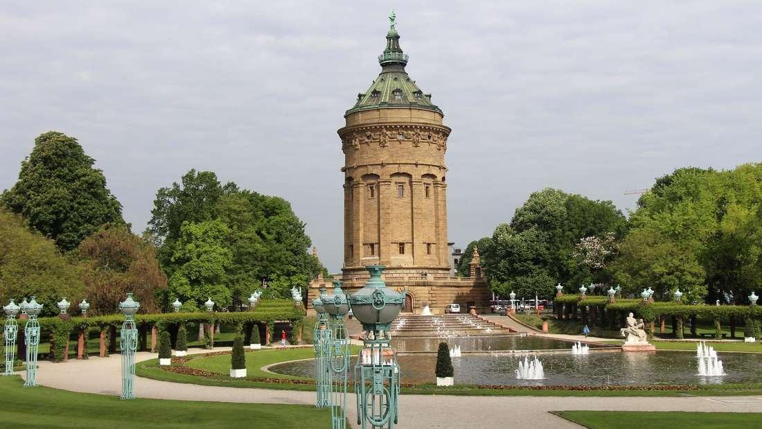 Der Mannheimer Wasserturm.