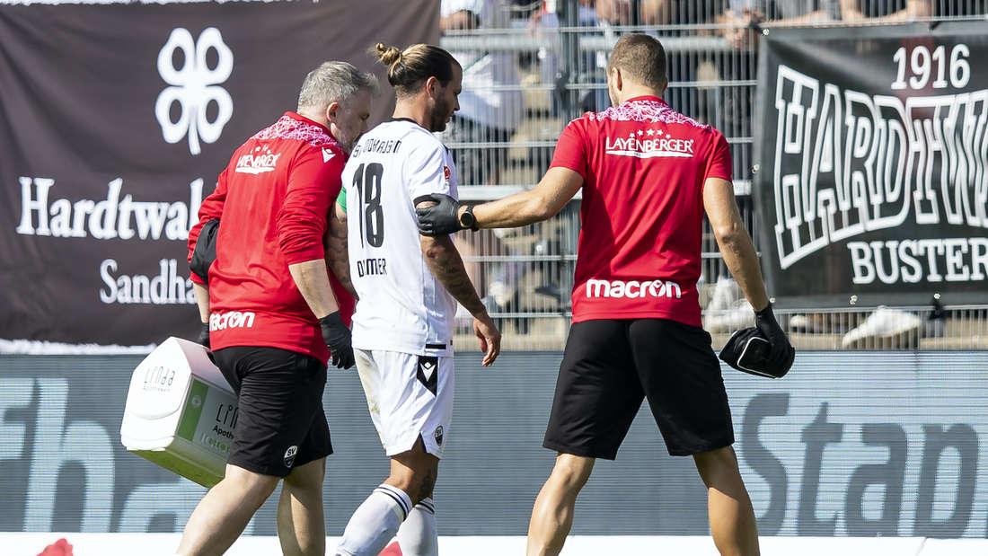 Dennis Diekmeier muss gegen Heidenheim verletzt ausgewechselt werden.