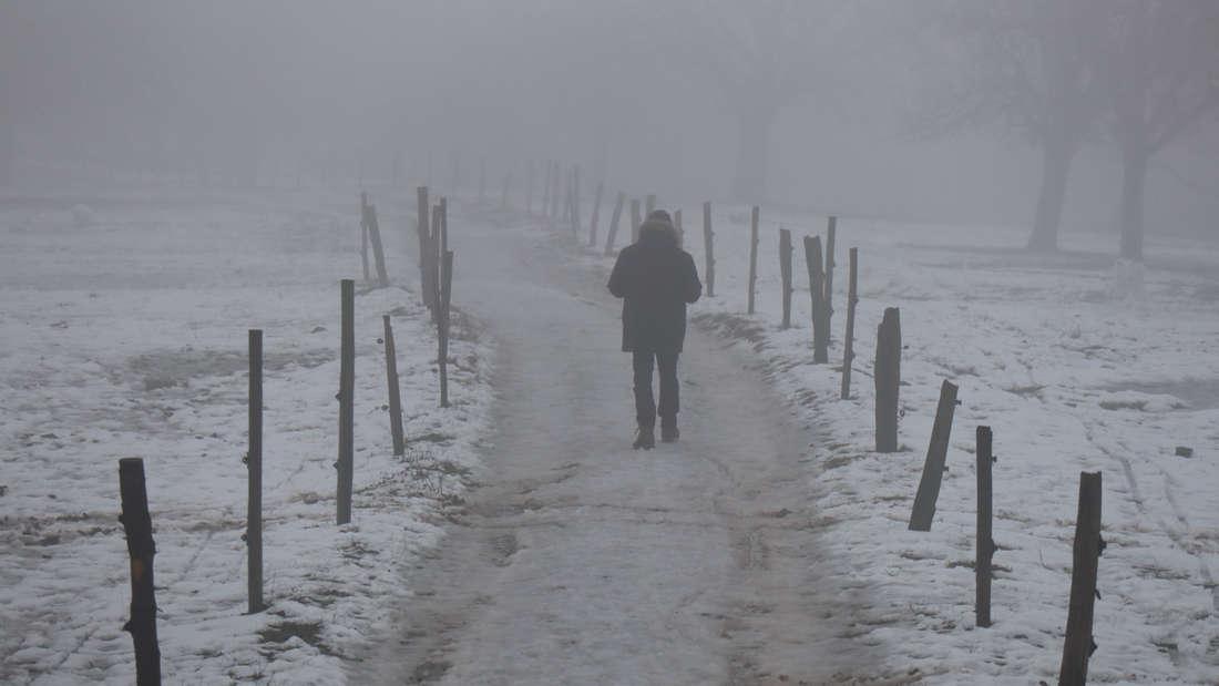 Schnee und Frost auf dem Kohlhof