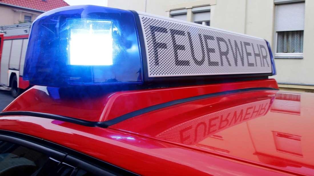 Blaulicht auf dem Dach eines Feuerwehrfahrzeugs