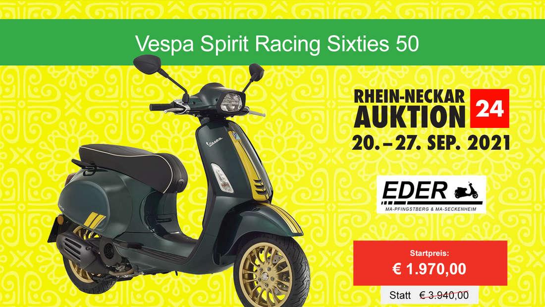 Auch eine Vespa Spirit Racing Sixties 50 gibt's bei der RHEIN-NECKAR AUKTION24.