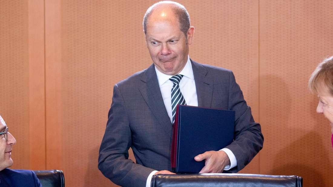 Olaf Scholz (SPD), Bundeskanzlerin Angela Merkel (CDU) und Heiko Maas (SPD) im Bundeskanzleramt