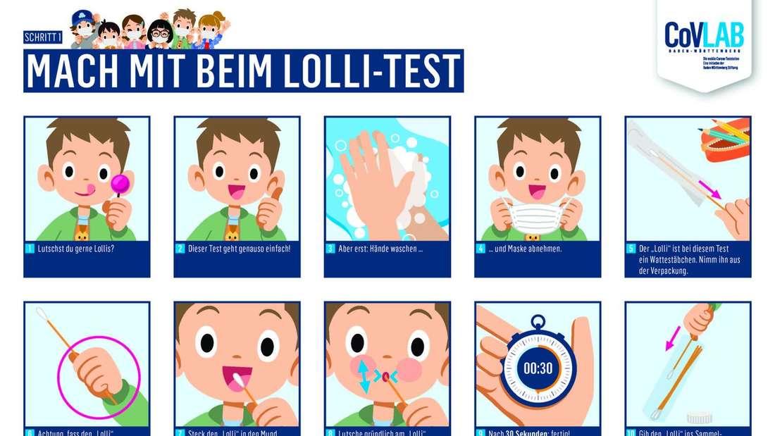 Anleitung für den sogenannten PCR-Lolli-Test.