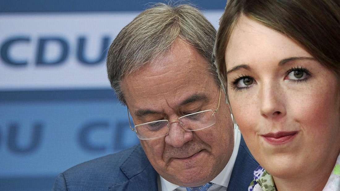 CDU-Politikerin Ellen Demuth fordert den Rücktritt von Armin Laschet. (Fotomontage)