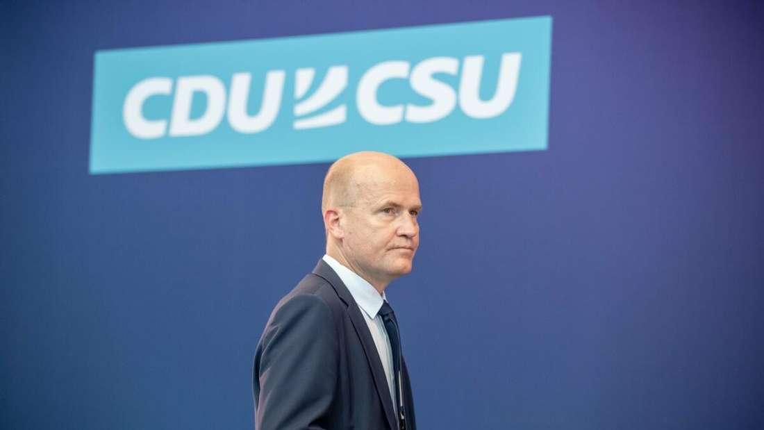 Der neue und alte Fraktionsvorsitzender der Union: Ralph Brinkhaus am Dienstagnachmittag.