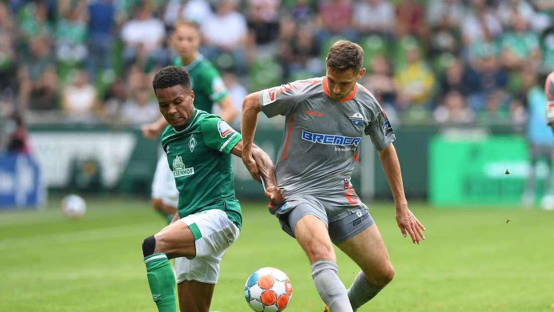 Marco Schuster (r) ist im Sommer vom SV Waldhof zum SC Paderborn gewechselt.
